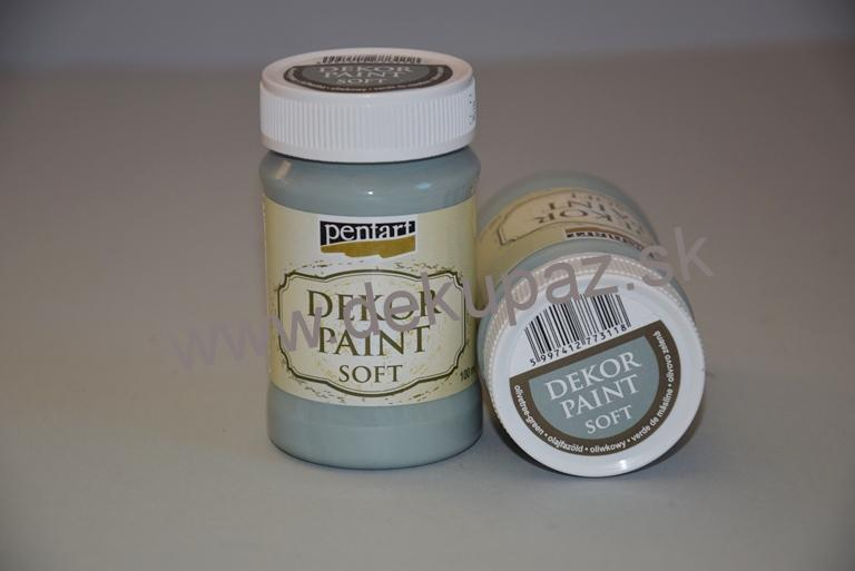 Decor paint soft, country zelená, 230 ml