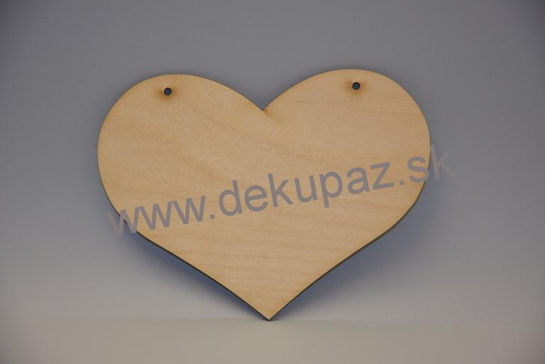 10cda4cef Drevene srdce 20 cm