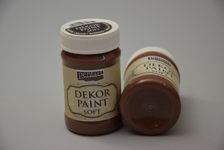Decor paint soft, hnedá, 500 ml