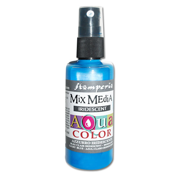 Aquacolor spray, dúhová modrá