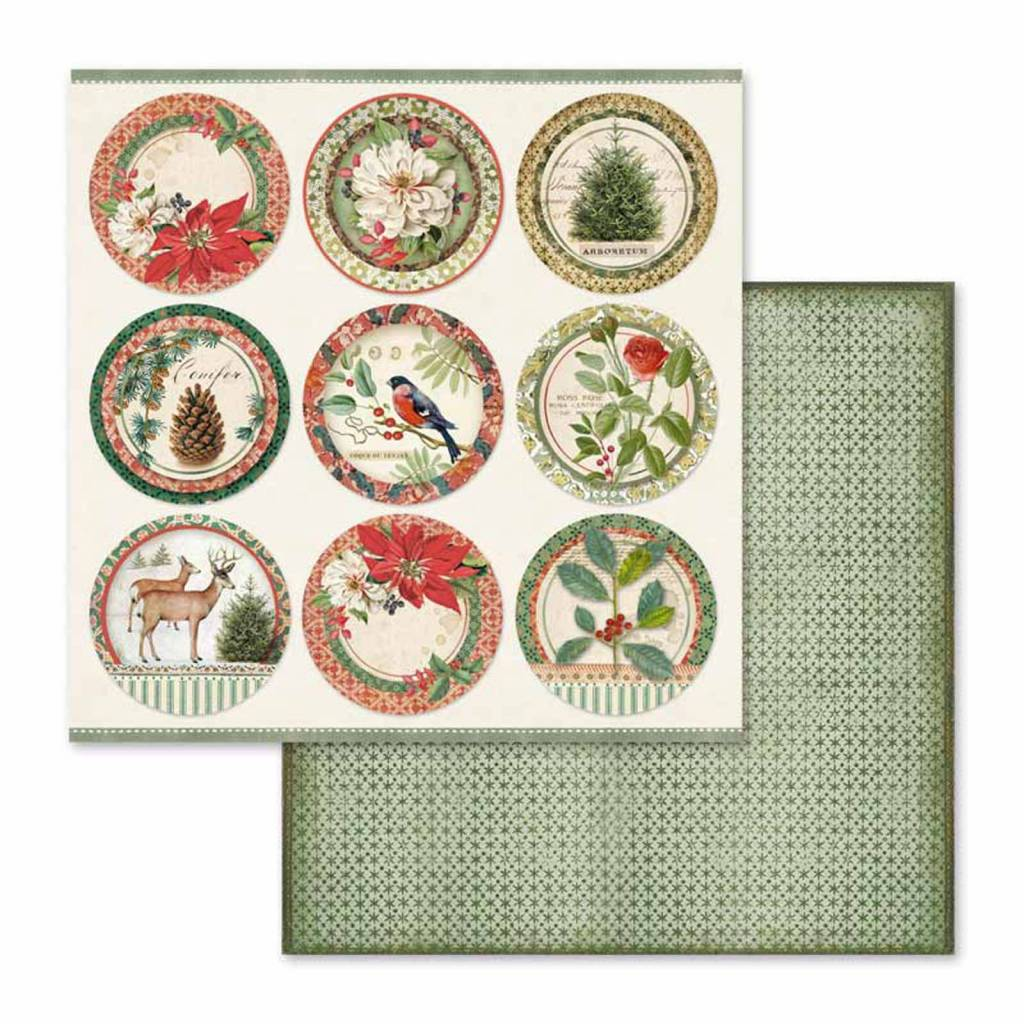 Scrapbook papier Winter Botanic Stamperia