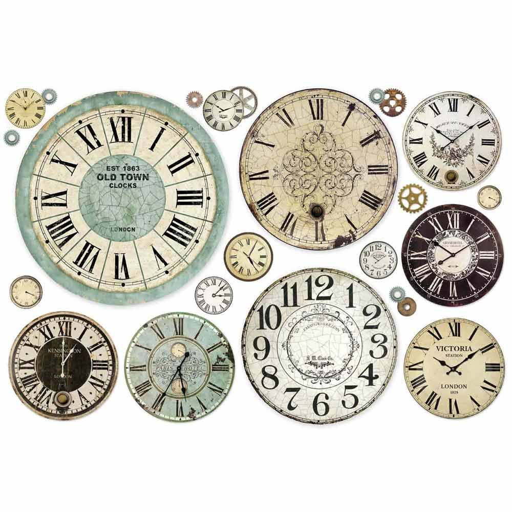 Ryžový papier Clocks