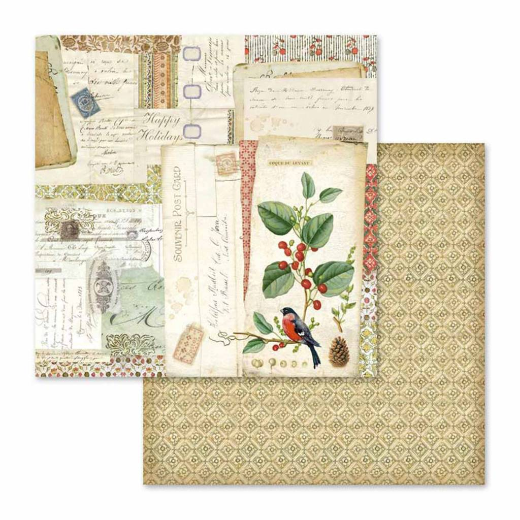 Scrapbook papier Winter Botanic