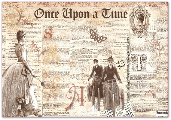 Ryžový papier, Once upon a time, 48X33 cm