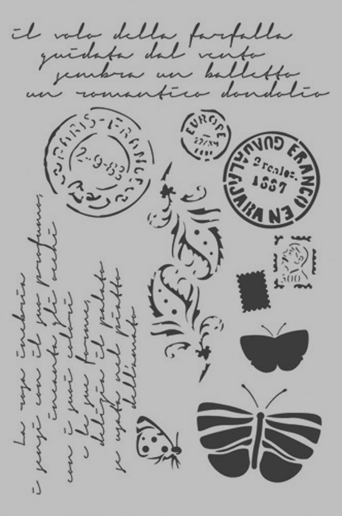 Šablóna  Post card, KSG289
